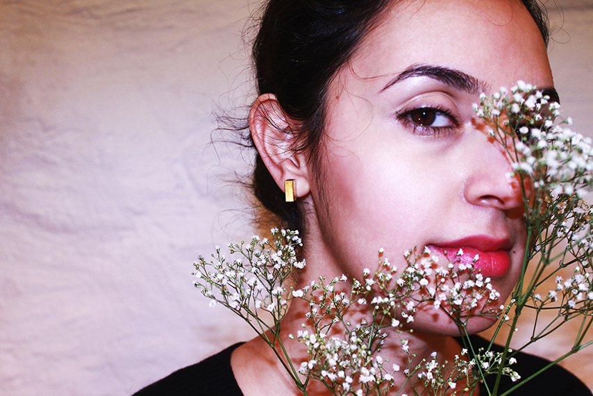 Rojah with Meggie Studs by Opium Jewelry