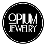 opium jewelry logo black