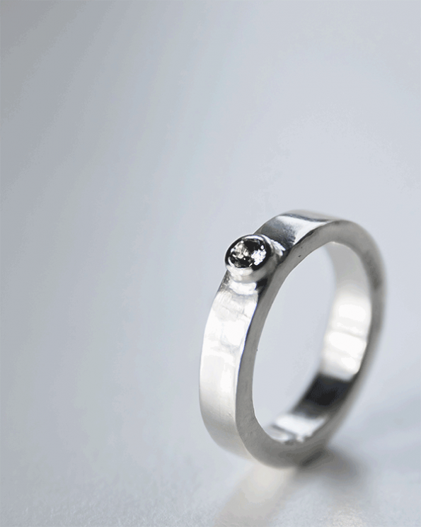 josefine solitaire engagement ring by opium jewelry