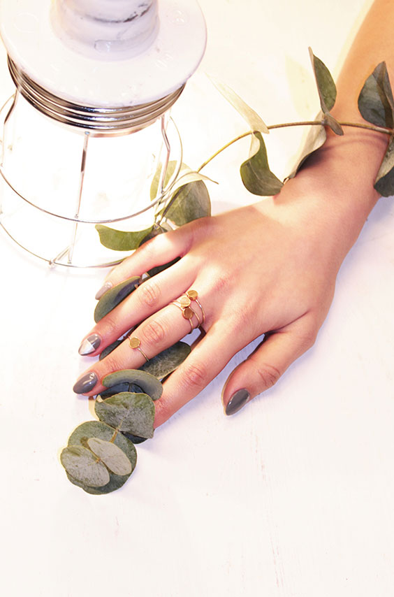 Rojah with eucalyptus and Lisa rings by Opium Jewelry